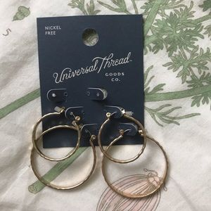 Universal Thread Gold Hoop Earrings